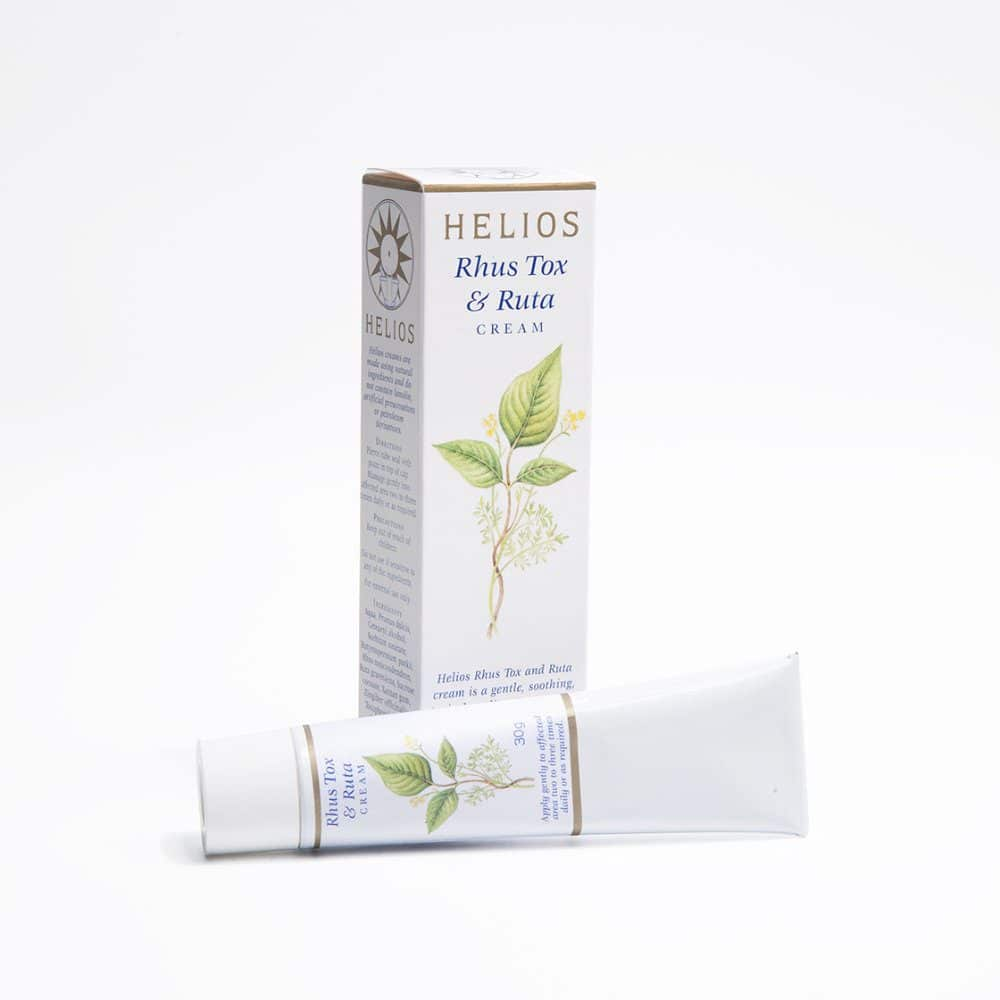Helios Rhus tox Ruta Cream: homeopathic cream for sprains, strains, and injuries to ligaments