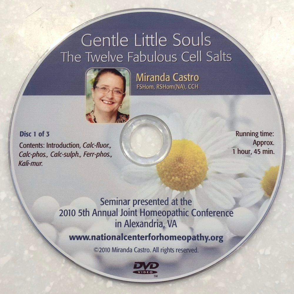 DVD: 12 Fabulous Cell Salts (Gentle Little Souls)